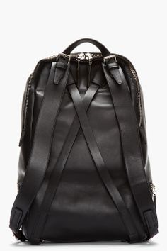 3.1 PHILLIP LIM Black Leather Zip Around Backpack.