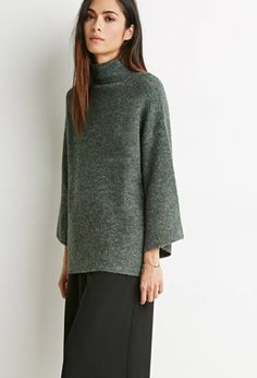 Oversized Mock Neck Sweater | Forever 21 Contemporary - 2000171893