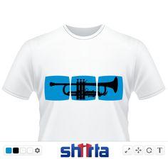 Trumpet Musiker T-Shirt für Trompeter / Trompete Jazz & andere Spielarten.  Jazz, Ska, Musikistrumente, istrumente, musik machen, spielen, blasen, classic, pop, bläser, blechblasinstrument,