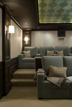 Home Cinema Room Theatre Seating Media Theater Decor