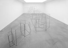 Antony Gormley   FRAME, 2013  10 mm square section stainless steel bar  dimensions variable  Photograph Allard Bovenberg