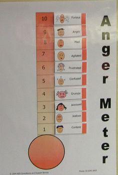 Feelings meter Repinned by Kim Peterson @ www.kimscounselingcorner.com.