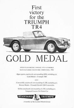 First victory for the Triumph TR4 GOLD METAL