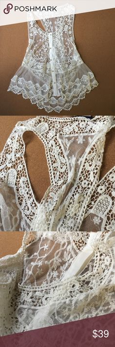 beach lace bikini beach crochet cover up ★ beach lace hollow bikini beach crochet swimwear cover up tunic  ★  boutique brand - limited supply  bundle 2 or more items by selecting [+add to bundle] for a better deal -- automatic 10% discount Swim Coverups