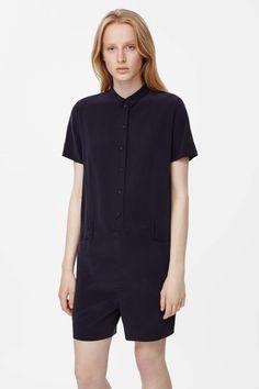COS | Short-sleeved silk jumpsuit