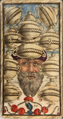 Ten of Cups from the Sola Busca Tarot
