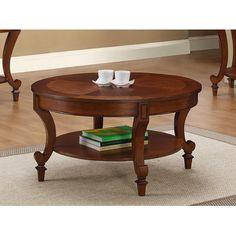 Three Posts Curved Brown Coffee Table & Reviews | Wayfair