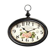 Vintage Retro Antique Decorative Iron Wall Clock Fob Watch French Design