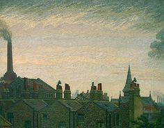 Charles Ginner - Rooftops, Pimlico (1945).