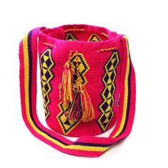 PinkYellow Wayuu Mochila