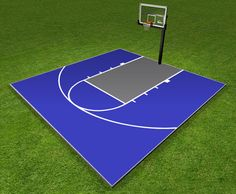 Dunkstar DIY Home Game Courts Monthly Specials Backyard Basketball, Outdoor Basketball Court, Basketball Floor, Sports Basketball, College Basketball, Sports Court, Basketball Birthday, Backyard Games, Backyard Projects