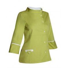 Chaqueta sanitaria de mujer cuello chimenea - Monza Chef Jackets, Fashion, Work Uniforms, Work Wear, Jackets, Women, Moda, La Mode, Fasion