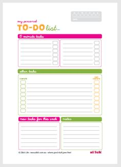 to do list templates free