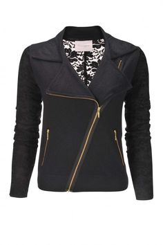 Lace and Cashmere Biker Jacket - Crumpet England