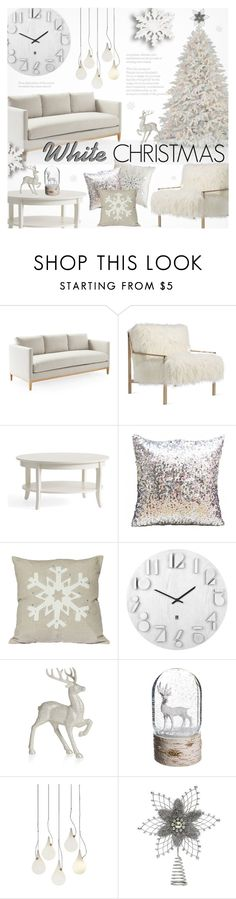 """Dreaming of a White Christmas"" by alexandrazeres ❤ liked on Polyvore featuring interior, interiors, interior design, home, home decor, interior decorating, Axel, Umbra, Disney and Allstate Floral"