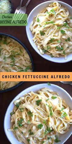 Chicken Fettucine Alfredo Recipe, Healthy Chicken Alfredo, Pasta Fettucine, Fettucini Alfredo Chicken, Grilled Chicken Alfredo, Fettuccine Recipes, Easy Pasta Recipes, Easy Chicken Recipes, Fetuchini Alfredo