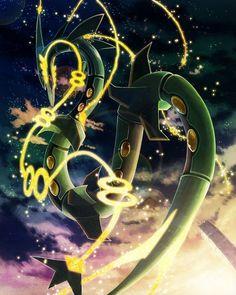 pokemon, rayquaza, and mega-rayquaza Bild