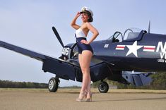 Tech Discover style Navy pin-up girl posing with a vintage Corsair aircraft - PinUp Girls Pin Up Girls Military Pins Air Festival Airplane Art Pin Up Photography Airplane Photography Pin Up Models Us Air Force Nose Art Pin Up Girls, Military Pins, Military Weapons, Pin Up Photography, Airplane Photography, Photography Editing, Portrait Photography, Manipulation Photography, Photo Manipulation