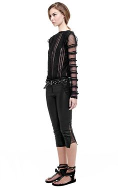 Black Quena Top by Isabel Marant for Preorder on Moda Operandi