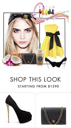"""""""Homecoming : High School Days"""" by lovelybroken23 on Polyvore featuring Giuseppe Zanotti and Chanel"""