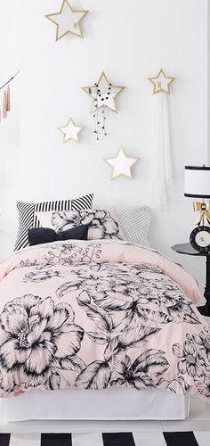 Emily + Meritt Girls Bedding | #girlsbedrooms