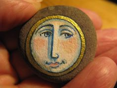 moon spirit - painted pebble
