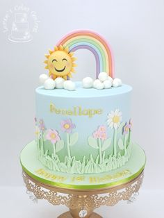 A pretty spring-time cake for Penellope's 1st birthday with delicious vanilla mud cake inside in rainbow layers 🙂 www.facebook.com/cakesbyleannerhodes Mud Cake, Party Cakes, How To Make Cake, Spring Time, Cake Decorating, Special Occasion, Wedding Cakes, Vanilla, Layers