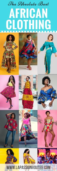 A round up of over 40 African clothing you need this season and where to get them. The best styles of the year in a plethora of gorgeous African prints!
