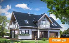 DOM.PL™ - Projekt domu AN LAZURYT CE - DOM AO10-37 - gotowy koszt budowy Home Design Plans, Plan Design, Best House Plans, Malm, Home Fashion, My House, Home Goods, Teak, Mansions