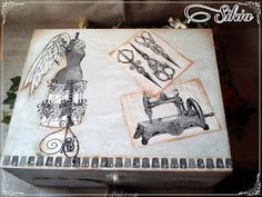 Manualidades anaki: caja costurero vintage