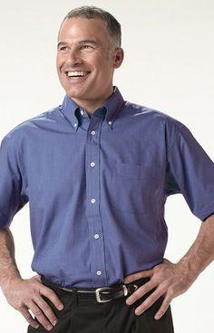 Edwards Garment Company | Men's Pinpoint Oxford Shirt SS | Dress Shirts | Clemens Uniform | 1925