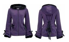 Purple jacket with hood