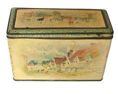 Carrs Bridges 1895 biscuit tin