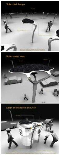 Solar Street Lamp Designed by Nikols KNEZEVIC ( 2003 / Serbia )