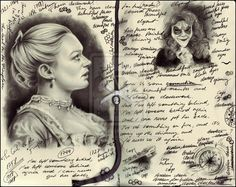 The Girl in the Fireplace by *naturalshocks on deviantART. Amazing drawings made to look like John Smith's Journal