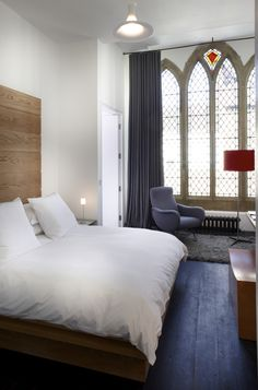 Room 2470 at The Chapel in Somerset. My idea of a hotel room. Modern and Mediaeval. Click through and look at everything else. #holiday #vacation #england