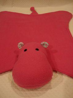Pink Hippo blanket.