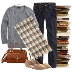 Bookstore Browsing by tjmcd on Polyvore featuring J.Crew, Dooney & Bourke, Madewell and ASOS