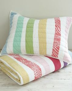 Love this company's quilts and pillow shams!!!  Finally--just what I've been looking for (since I'm certainly not capable of quilting them myself)  :)