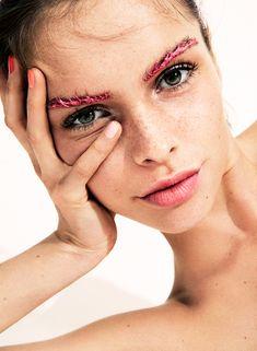"""Paint Job/Organic Beauty"" Signe Romer by Frida Marklund for Elle India August 2016. Beauty Styling: Emma Unckel Hair: Joe-Yves Makeup: Linda Öhrström"