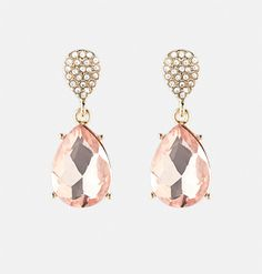 Shop grand statement earrings like these over-sized plus size Faceted Teardrop Earrings with Rhinestones available online at avenue.com. Avenue Store