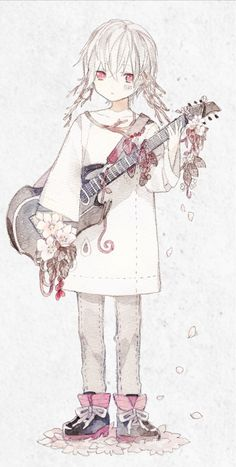 He plays the guitar Manga Anime, Anime Guys, Kawaii Anime Girl, Anime Art Girl, Neko, Chibi, Music Drawings, Natsume Yuujinchou, Dibujos Cute