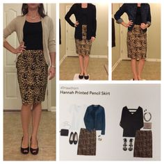 41Hawthorn Hannah Printed Pencil Skirt #Fix4 LOVE that it can be dressed up or worn super causal! I love leopard.