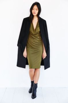 Silence + Noise Sleeveless Cowl Neck Dress - Urban Outfitters