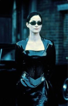 Trinity from The Matrix motion picture. Stanley Kubrick, Gi Joe, Movies To Watch List, The Matrix Movie, Matrix Film, Man In Black, Carrie Anne Moss, Carlos Castaneda, Actrices Hollywood