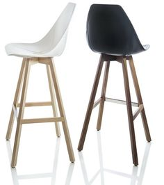 Chaise de bar design scandinave coloris blanc siwa - Tabouret de bar avec accoudoir ...