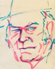 いいね!36件、コメント1件 ― @1mindrawのInstagramアカウント: 「#neilyoung #ニールヤング #musician #ミュージシャン #19451112 #birthday #1mindraw #一分描画 #誕生日 #portrait #似顔絵…」