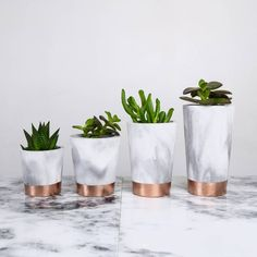Copper tempered marbled black and white concrete pots - Art Cement London Pa . - artist - Copper tempered marbled black and white concrete pots Art cement London Pa -