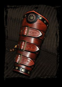 steampunk leather bracers by ~Lagueuse on deviantART