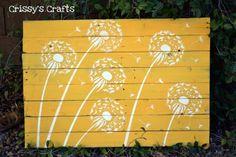 Crissy's Crafts: Pallet Dandelions Wall Decor